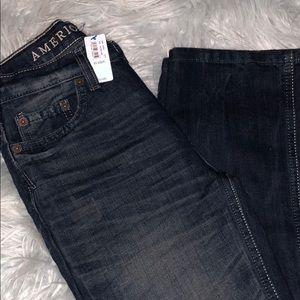 New American Eagle 77kids distressed jeans slim